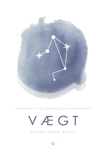 stjernetegn med vægtens stjernebillede i blå