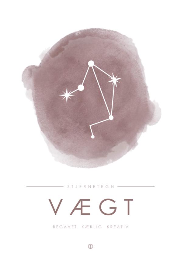 stjernebillede plakat med vægten i lyserød