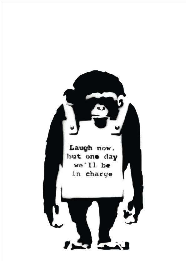monkey banksy street art