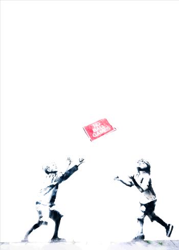 banksy plakat no ball games
