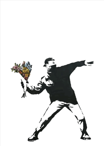 banksy plakat flower thrower