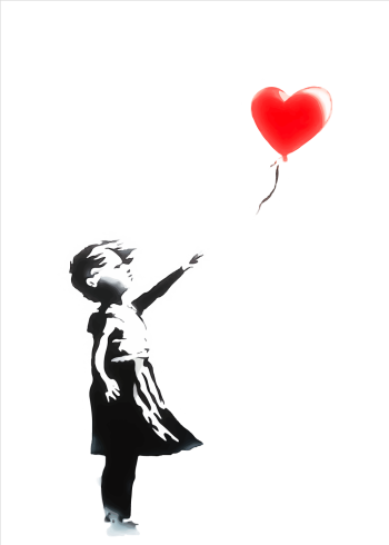 balloon girl banksy plakat street art