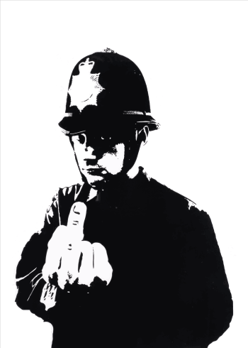banksy plakat fuck the police