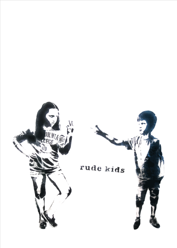 banksy street art plakat rude kids