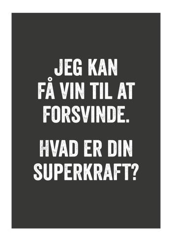 plakater med vin der er sjove