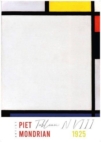 Kunstværk af Piet Mondrian, med værket Tablean N VllI