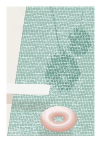 fotokunst plakater af kunstig barbie pool