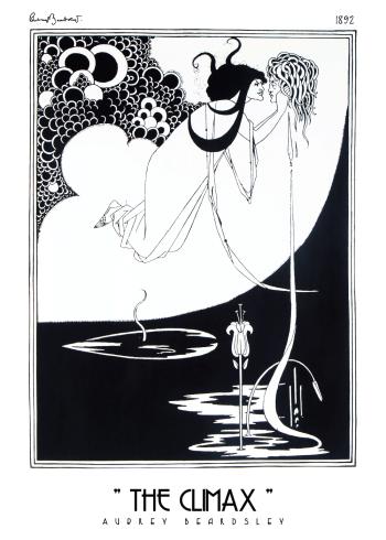 The Climax Aubrey Beardsley kunstplakat
