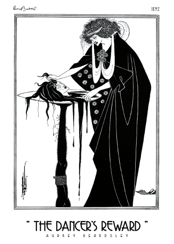 The Dancers Reward Aubrey Beardsley kunstplakat