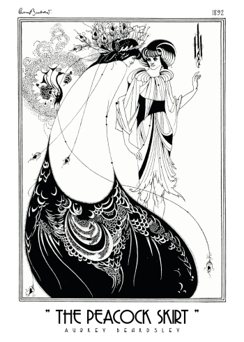 The peacock skirt aubrey beardsley kunstplakat