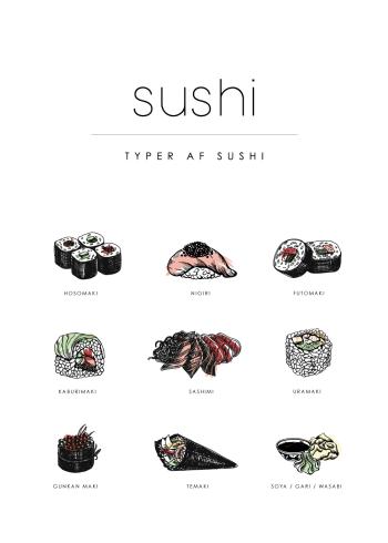 sushi guide plakat