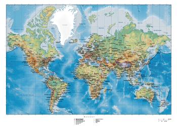 klassisk skole verdenkort plakat