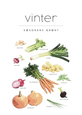 sæson grøntsager med vinter plakat