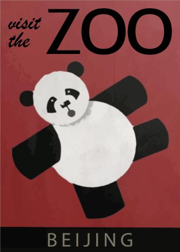 panda på zoo plakater