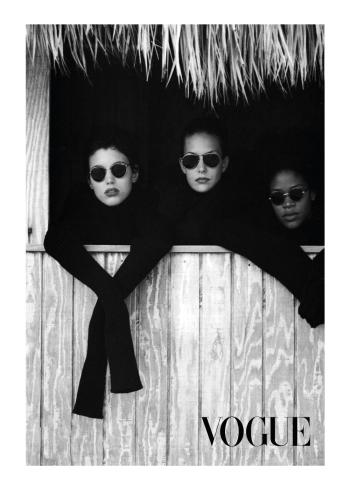 fotokunst plakater af 3 vogue modeller med solbriller