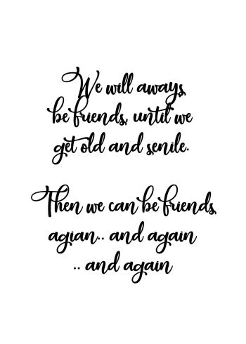 venskabs plakater med sjove søde tekster