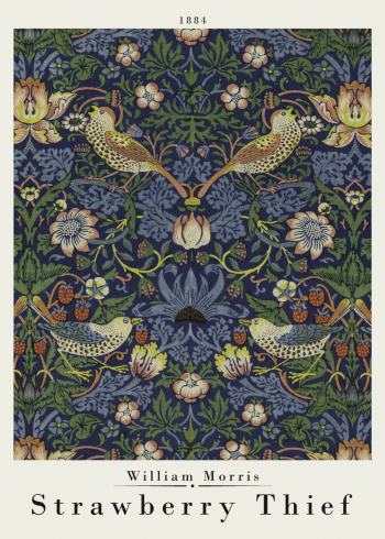 william morris plakat med strawberry thief