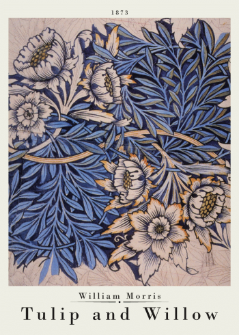 william morris plakat med tupil and willow