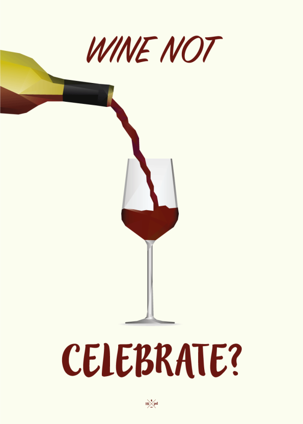 far jokes - wine nor celebrate - rødvin plakat