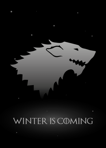 GOT poster - winter is coming med ulven