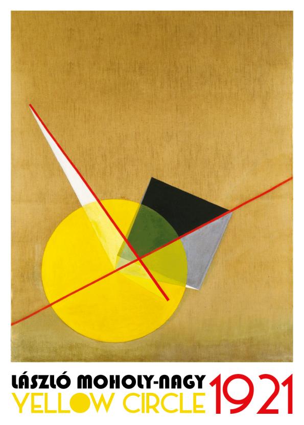 Yellow Circle Bauhaus kunstplakat