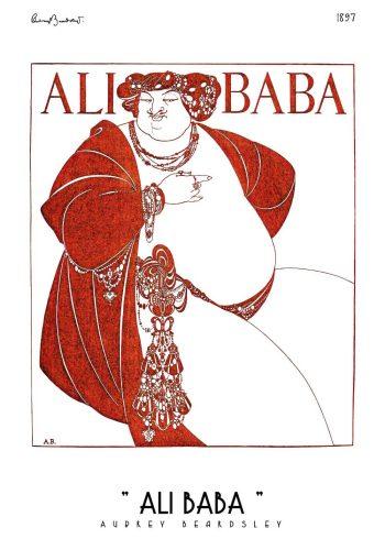 ali baba magazine cover af aubrey beardsley