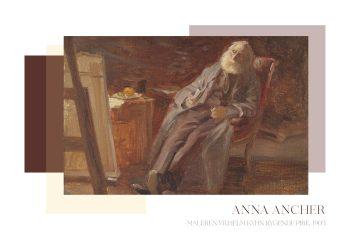 Værk af Anna anker, som har portrætteret maleren Vilhelm Kyhn