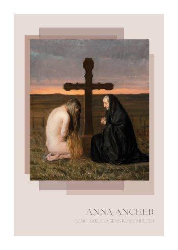 Museumsplakat af Anna Ancher, med værket Sorg.