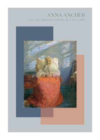 Fru Anne Brøndum i den blå stue - Anna Ancher, 2913