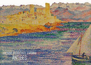 Maleriet er meget farverigt, og forestiller et landskab, hvor man ser en mand sejle i en båd med en by i baggrunden