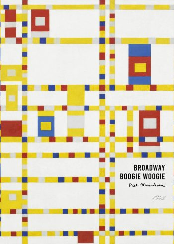 Kunstplakat af Piet Mondrian med Broadway boogie woogie