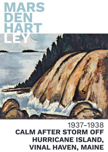 marsden hartley maleri med værker 'calm after storm of hurricane island
