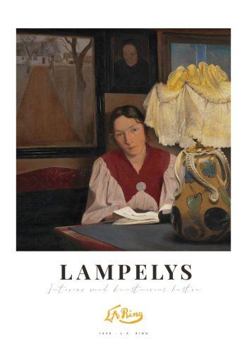 lampelys og sigrid kähler på plakat af l.a. ring