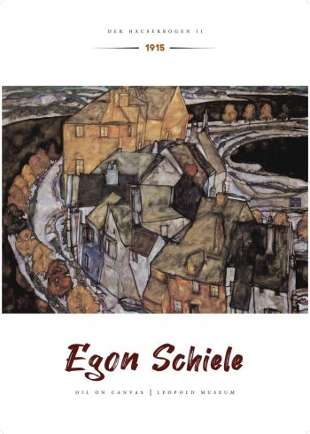 Med de skæve kubistiske former som elementerne er bygget af, giver Schiele en fornemmelse af at hele billedet er i bevægelse