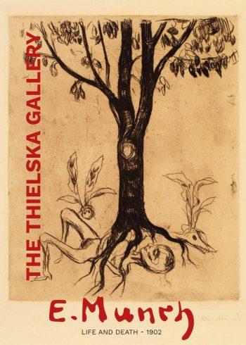 "Museumsplakat fra The Thielska Gallery med Edvard Munchs maleri ""Life and death"""