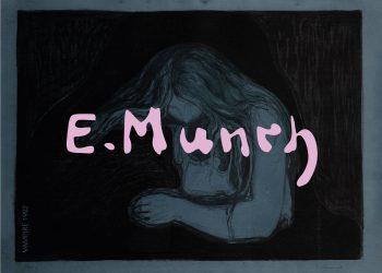 Plakat med Edvard Munchs værk Vampire II