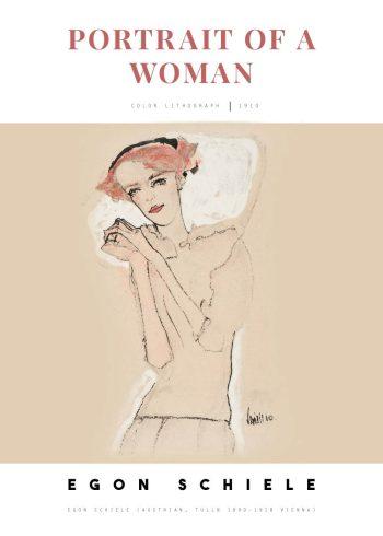 Selve tegningen på plakaten forestiller en slank kvinde med rødt hår og røde læber