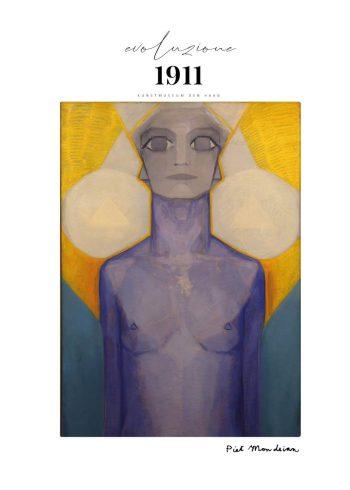 Evoluzione II af Pet Mondrian i de fineste gule og blå farver