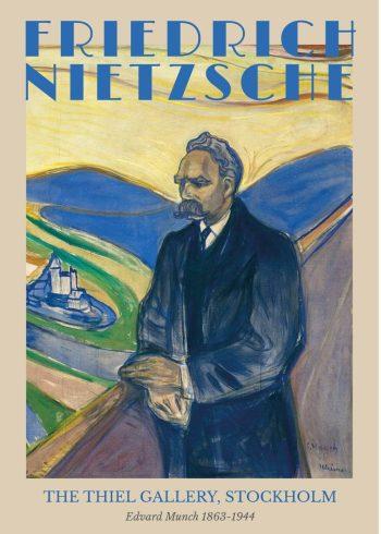 Museumsplakat med Edvard Munchs portræt af Friedrich Nietzsche