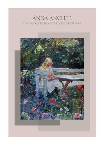 Helga Ancher i haven ved sommertid, af Anna Ancher