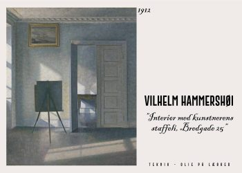 Interiør med kunstnerens staffeli af Vilhelm Hammershøi.