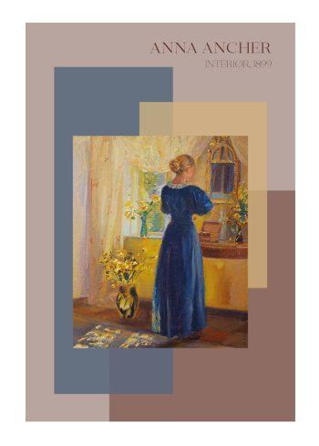Interiør, plakat af Anna Ancher fra 1899