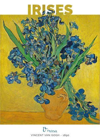 Selve motivet her er en krukke med grønne og blå iriser på en gul og næsten lysende baggrund