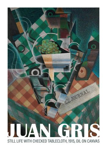 Still life with checked tablecloth, Juan Gris, 1915