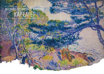Maleriet skildrer en kvinde som står i naturen med to børn