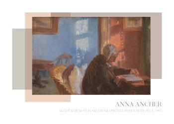 Kunstnerens mor - Ane Brøndum i den røde stue, af Anna Ancher, fra 1905