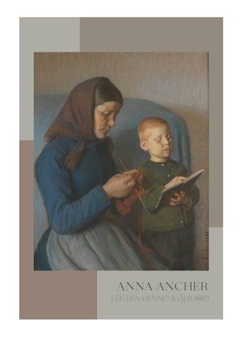 Lektien gennemgåes - Anna Ancher, 1885