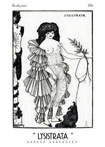 lysistrata plakat med kvinde og fallos