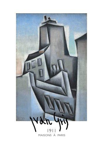 maisons a paris kunstplakat af juan gris fra 1911