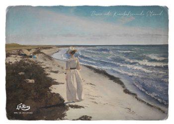 karrebæksminde strand maleri af L.A. Ring